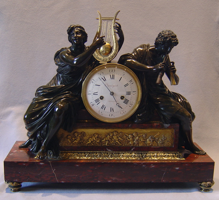 Antique French 18th Century Louis XVIth Library clock.