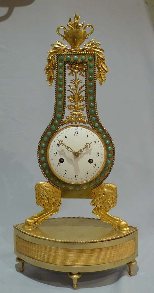 Antique French  Louis XVIth  period lyre clock.
