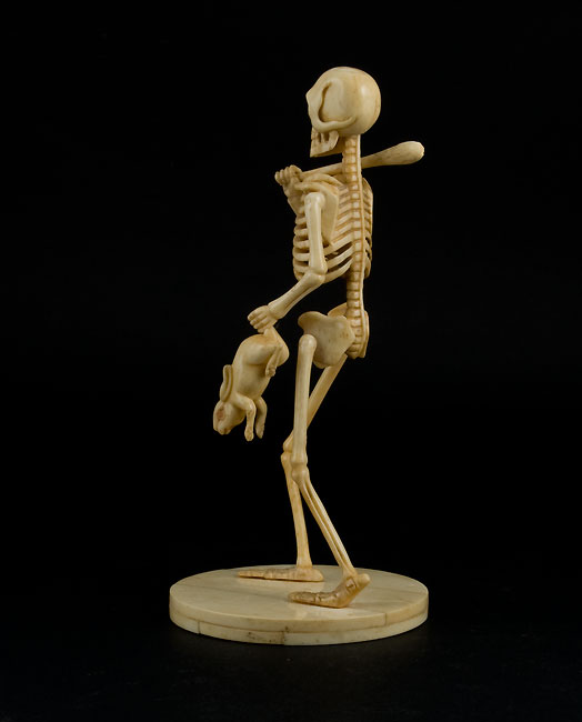 Antique ivory articulated skeleton.