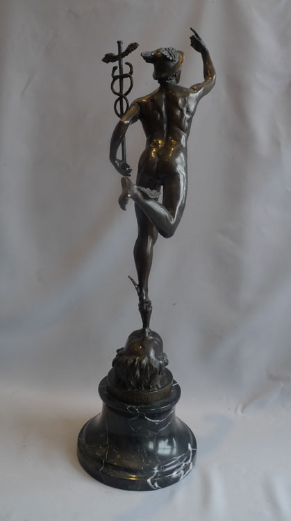 Antique bronze of Mercury after Gianbolognia, late 19th century.