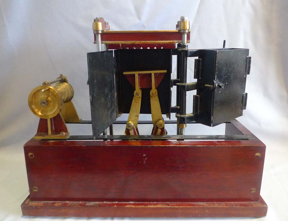 Antique model of a baling machine by Roberts Liverpool , England.