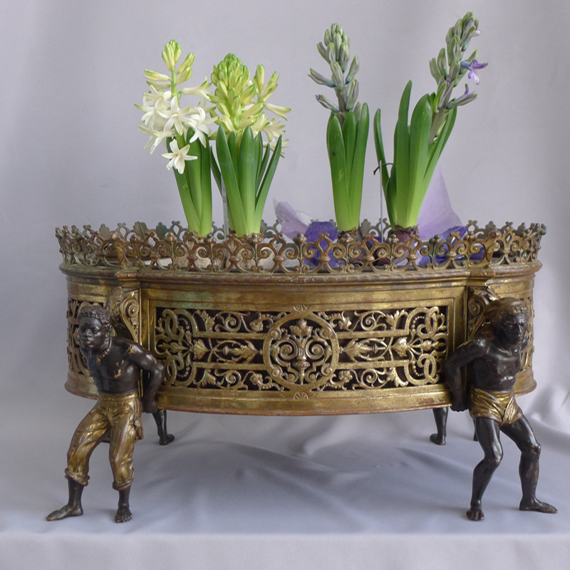 Antique French Ormolu Blackamoor Jardiniere
