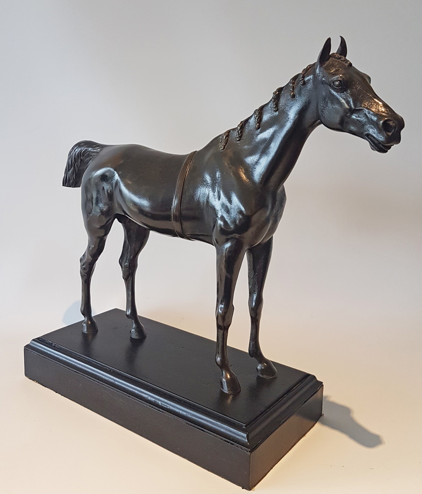 Antique French Patinated bronze of a Horse
