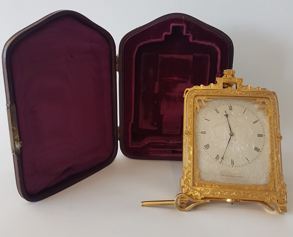 Important pre numbered Thomas Cole Striking and Repeating  Strut Clock