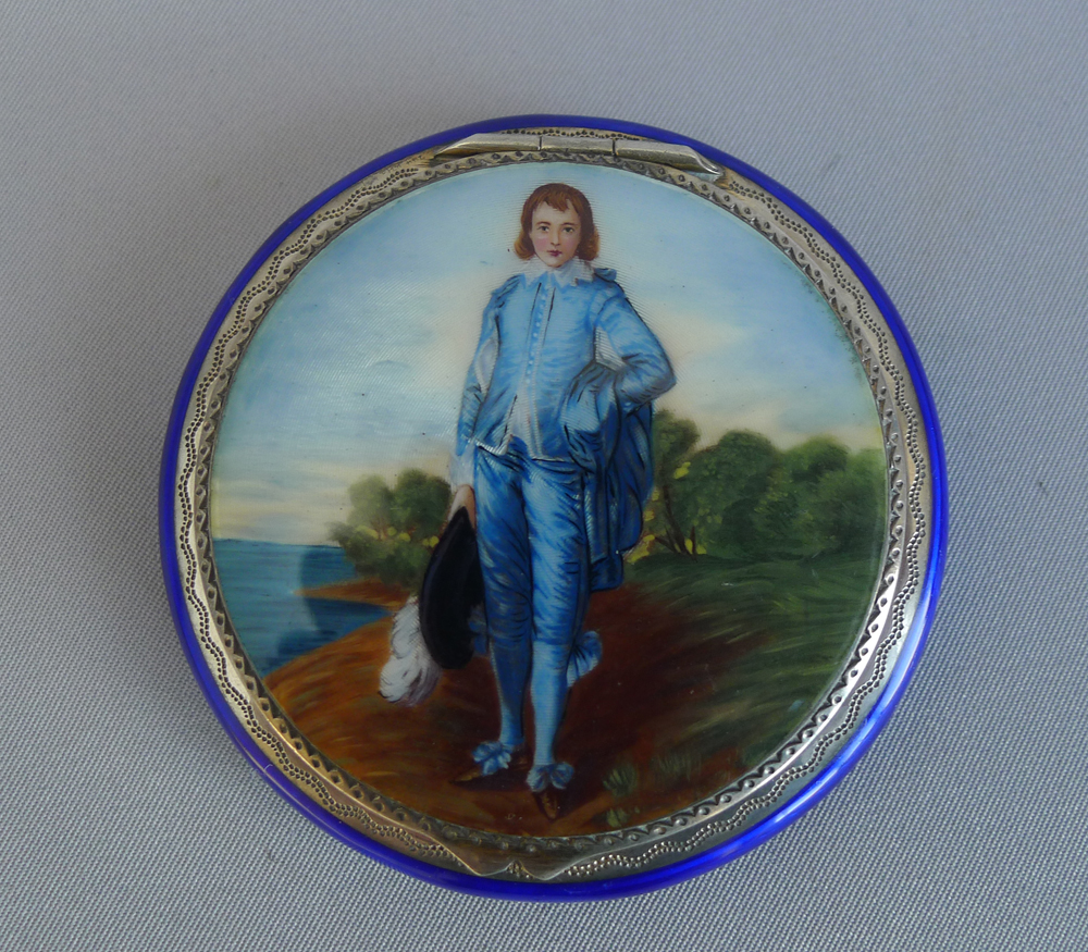 Silver gilt and enamel compact