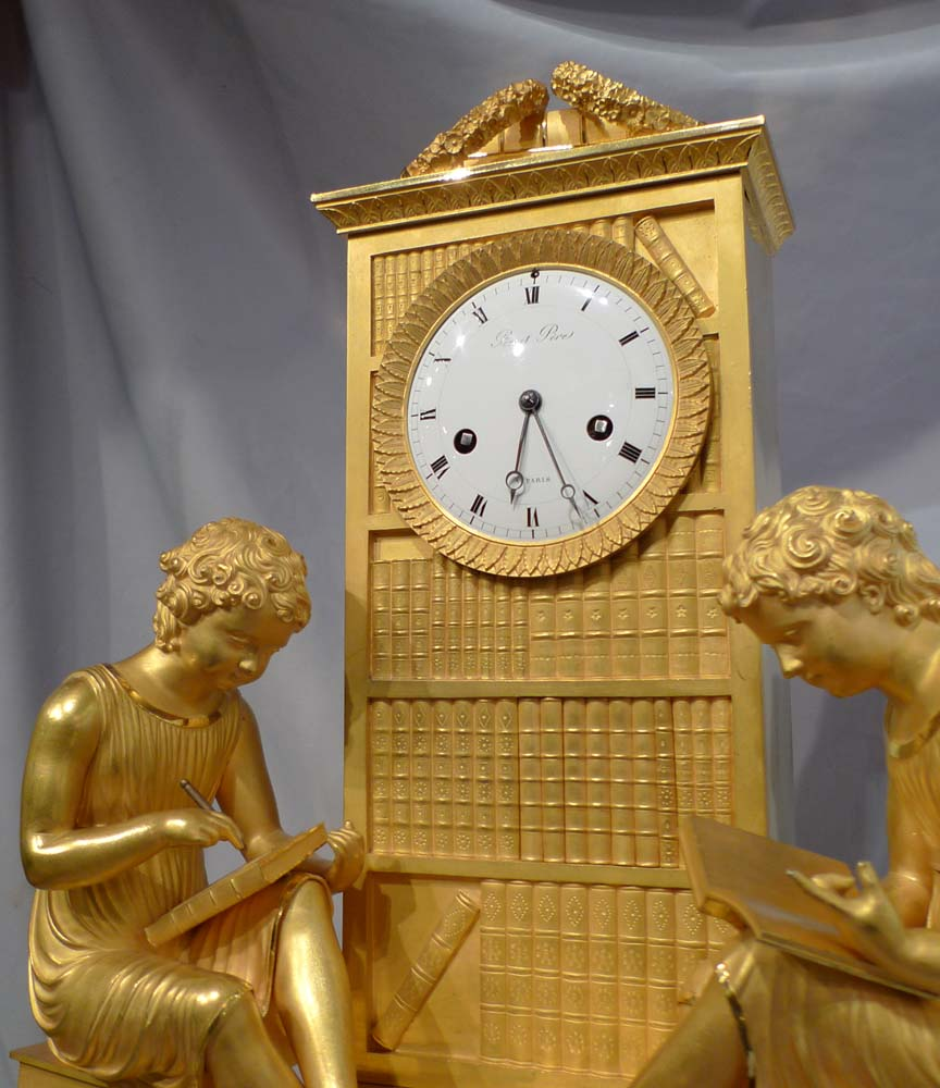 Antique French mantel clock in ormolu, Charles X period signed Picnot Pere a Paris
