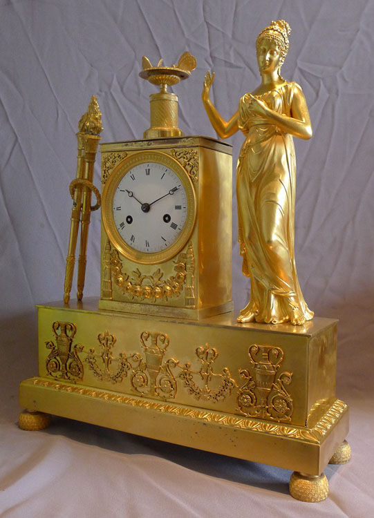 Antique French Empire ormolu Mantel clock of Venus.