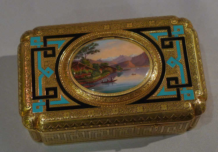 Antique singing bird box by Charles Bruguier in original box.