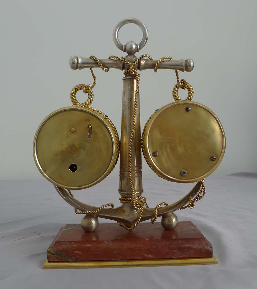 Antique Industrial series desk weather station of mautical style.
