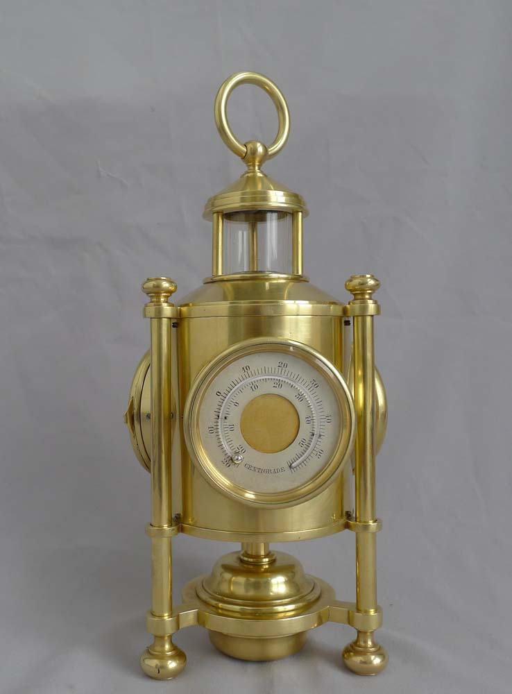 Antique industrial Series weather station Davy's Miner's Lamp clock compendium by Guilmet.