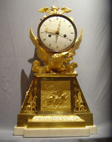 Antique French Louis XVIth mantel clock by Sallot a Paris