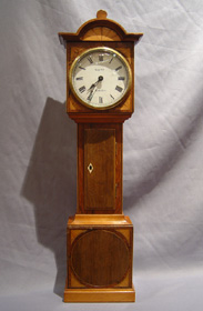 Antique English Rosewood Miniature Longcase Clock by Asprey of London