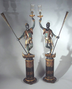 Antique Italian pair of Grand Tour Blackamoors.
