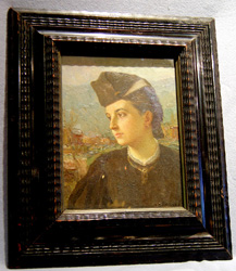 Italian oil painting of young woman by G. Gianmarco