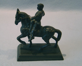 Antique Grand Tour bronze of mounted horseman