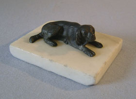 English Regency antique paperweight of dog
