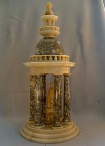 Antique French or Italian alabaster Neo-Classical Cupola ornament.