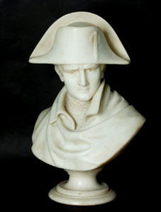 Grand tour antique marble bust of the young Napoleon Bonaparte.