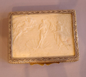 Italian silver and ivory box