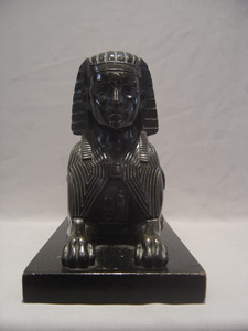 Large and fine antique English bronze model of a Sphinx.