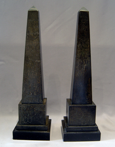 Rare English Regency Egyptian revival signed Obelisks by Brown and Mawe, Strand, London.