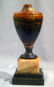 Antique Vase English Blue John Fleurospar.