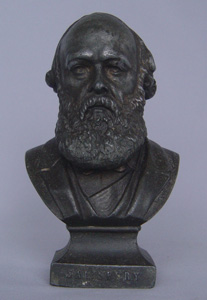Antique bust of English Prime Minister Lord Salisbury.