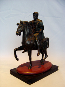Antique Grand Tour bronze of Marcus Aurelius on horseback.
