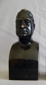 Antique  bust of George IV in patinated bronze.