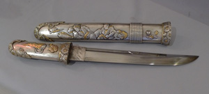 Antique Japanese short sword or Aikuchi.