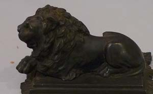 Antique Berlin ironwork Lion.