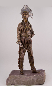 Bergman Native American cold painted bronze.