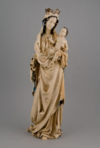 Antique  Philipino ivory, 17th century Madonna and Child.