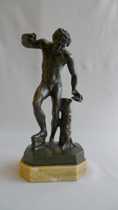 Antique Italian Grand Tour bronze of the dancing Faun.