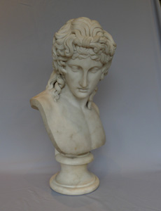 Grand Tour marble bust of a beautiful youth, early 19th century.