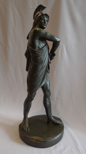 Antique Grand Tour bronze of a Trojan warrior, possibly late 18th century.