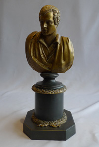 Lord Byron antique bust in bronze.