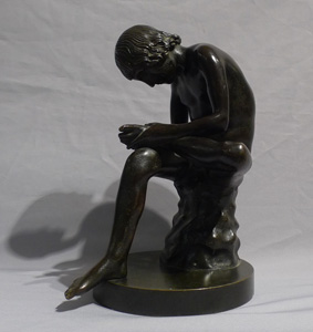 Antique Grand Tour bronze of Spinario.