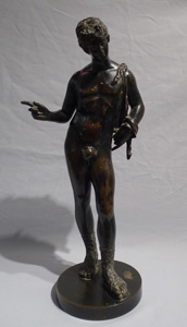 Grand Tour antique  bronze figure of Narcissus