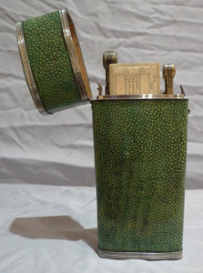 Antique English Regency Silver and shagreen etui dated 1825