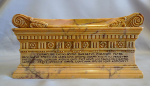 Grand Tour Italian antique of Skipio's tomb in Sienna marble