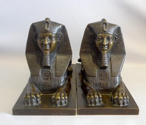 Antique Grand Tour pair of bronze Sphinxes, well detailed and of a good size.