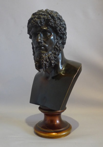 Antique Grand Tour patinated bronze bust of the Roman EmperorLucius Verus