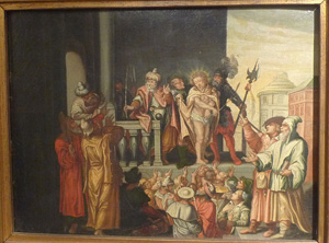 Painting of Judgment of Pontius Pilate, 16th century, German.