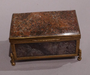 Antique split agate Austro-Hungarian casket.