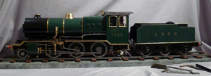 2.5 inch guage 2-6-0 tender loco steam locomotive.