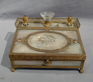 Superb Palais Royal silver gilt and gilt bronze caskett