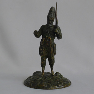 Antique French Patinated Bronze figure of Robinson Crusoe