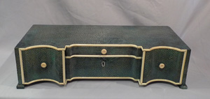 Art Deco shagreen and ivory dressing table cabinet.