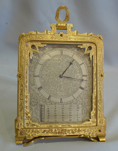 Important pre numbered Thomas Cole calendar clock.